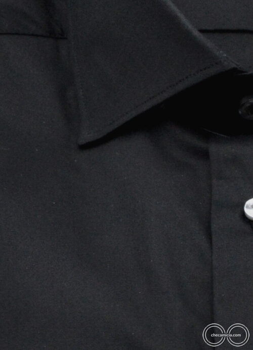 Camicia nera uomo Londra camicie online
