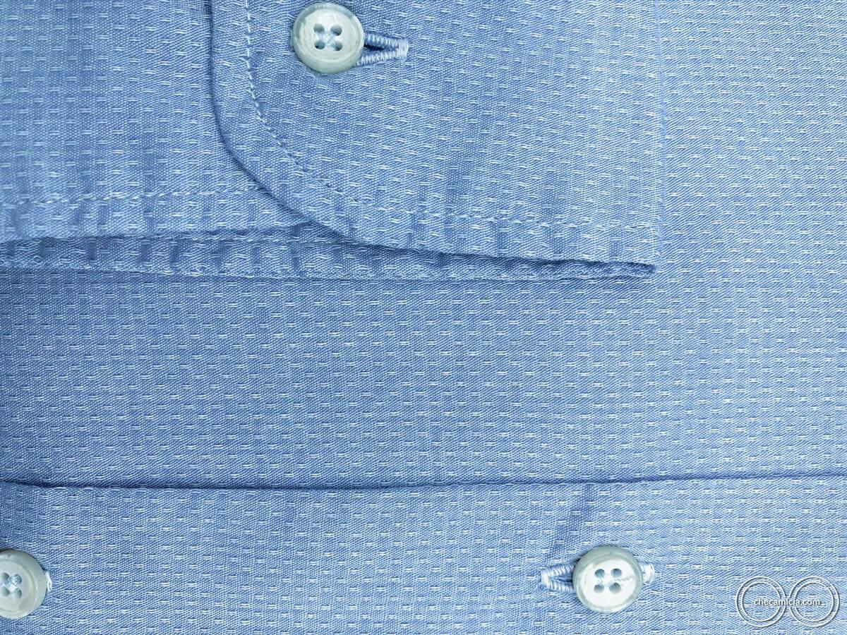 Camicia uomo online celeste tessuto cotone operato 100 bali checamicia