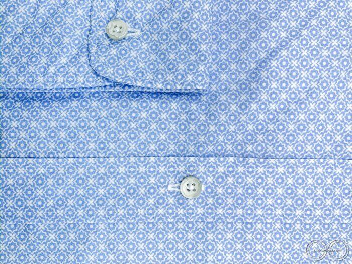 Camicie online uomo collo coreano camicia fantasia celeste kailua