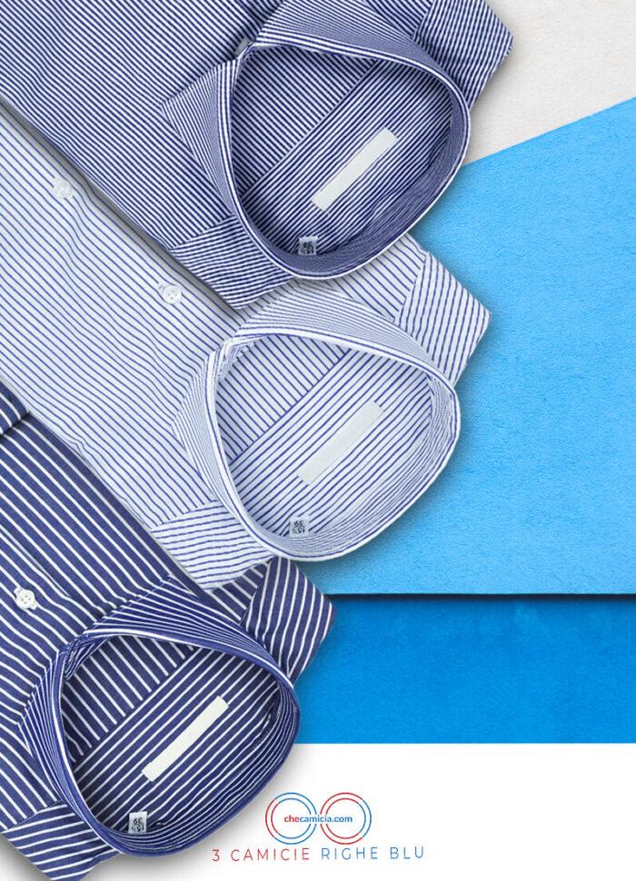 Camicia righe blu camicie a righe uomo
